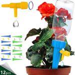 FLAMEER Plantes Arrosage Auto Pointes Dispositifs, 12 Pack Matériel D'irrigation Automatique Abreuvoir Plantes avec Libération Lente Soupape de Commande,