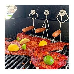 Fourchettes de barbecue en acier inoxydable pour Hot Dog Marshmallow Rôtissoire fantaisie pour feu de camp