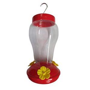 Freedomanoth Kolibri Distributeur de Nourriture en Plastique Hanging Outdoor Oiseau Flower Feeder Amovible Facile à Monter et à Nettoyer