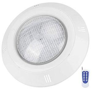 Fybida Lampe de Piscine Stable d'opération Simple Lampe sous-Marine imperméable de la Lampe RVB de Piscine, éclairage de Paysage de lumière de Piscine