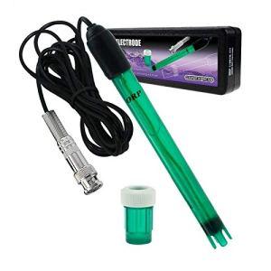 GAIN EXPRESS ORP Redox Electrode, Type BNC Connecteur Sonde Testeur Contrôleur de contrôle Contrôle du potentiel de réduction de l'oxydation, Câble de 14cm de Long, 1.2cm de diamètre, 300cm