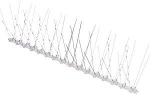Gardigo Pics Anti Pigeons en Acier Inoxydable, 4 Mètres, Kit Contient 10 Rangées à 40,5 x 12,3 x 10,9cm, Picots Anti-Oiseaux pour Terrasse, Toiture ou Balcons