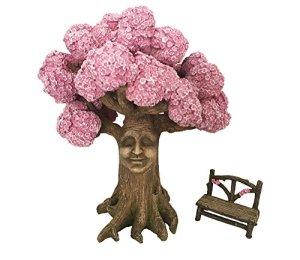 GlitZGlam l'arbre Magique d'Ethan, avec Banc enchanté Assorti (22,9cm), Un Accessoire pour Jardin enchanté