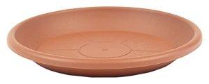 greemotion Soucoupe pour pot de fleur rond couleur terre cuite Ø44 cm – Dessous de pot de fleurs en plastique – Sous-pot pour plantes – Plateau pour pot de fleurs rond