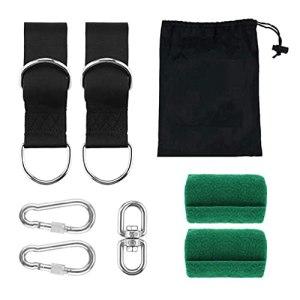 Hamac à suspendre, kit de suspension avec mousqueton pour camping, jardin, balançoire, accessoire pour jeux en plein air, décoration de sport, chaise hamac