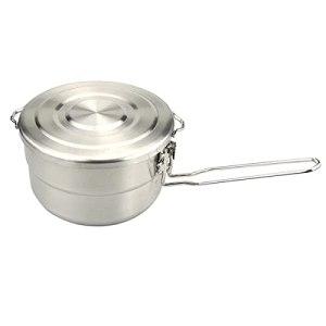 HCHL Pots antiadhésifs Camping Cooker Pan Set, kit de Cuisine en Acier Inoxydable, Camping randonnée Pique-Nique Pique-Nique Cuisine de Cuisine Boîte à Lunch Cuisson Pan pour Tous Les poêles