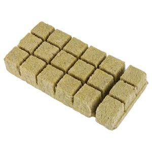 Holibanna 18 Pièces Bouchons de Démarrage en Laine de Roche Poussent des Cubes Cubes de Laine de Roche Feuilles de Démarrage pour Boutures Propagation des Plantes à Partir de Culture