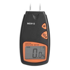 Humidimètre Bois, Akozon MD912 LCD Digital Humidimètre Testeur d'Humidité Détecteur 2 Pin Hygromètre à Bois Humidimètre Détecte pour Bois Sheetrock Tapis