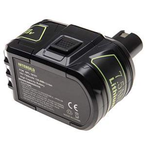 INTENSILO Batterie remplacement pour Ryobi RB18L13, RB18L25, RB18L40, RB18L50 pour outil électrique (7500mAh Li-ion 18 V)