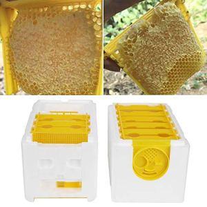jadenzhou Cadres de Ruche de Miel, boîte de Roi d'abeille sûre et Saine de matériel de Mousse, Toit léger de Haute qualité pour la Cour de Balcon de Maison