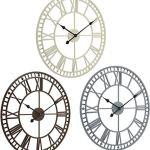JJDSN Grande Horloge Murale De Jardin Extérieur Etanche avec Chiffres Romains Diamètre 60,3 cm x H 4 cm, Marron