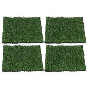 Kadimendium Tapis de Gazon de Chien de Compagnie Auto-adhésif Bande de Couture d'herbe Artificielle 25x25cm pelouse de Gazon Artificiel pour Jardin Balcon Plancher décor