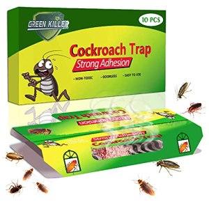 KafooStore Pièges à Cafards avec Piège Colle Tueur 10 PCS Attrape Cafards Répulsifs à Insectes Non Toxique + 10 Appâts fournis
