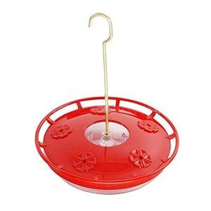 KANGDILE Collingbird Growers, Saucer Hummingbird Manming pour fenêtre 4 Ports d'alimentation, Facile à Nettoyer et à remplir, pour Les Fournitures d'oiseaux de Compagnie à l'extérieur (Color : Red)
