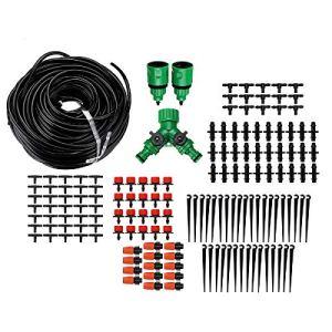 Kit d'irrigation goutte à goutte 40 m Kit d'irrigation automatique Micro goutte à goutte pour serre, pelouse, terrasse, parterre de fleurs