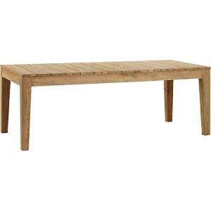 KOK Maison – Table Outdoor Teck recyclé Vieilli 220×100, 220 x 100 cm