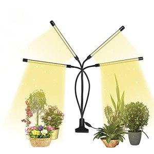 Lampe de croissance à 4 têtes avec 80 LED, spectre complet, 3 modes d'éclairage, lampe de croissance avec minuterie pour plantes d'intérieur.