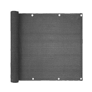 LH-RUG Écran De Confidentialité Balcon, Écran De Clôture Balcon Bouclier Couvercle Résistant Aux UV, pour Patio, Clôture, Arrière-Plan, Porche – Comprend La Corde (Color : Gray, Size : 0.7×1m)