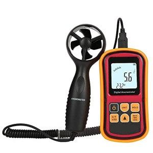 Living Equipment Anémomètre numérique portable pour mesurer le point de rosée de la vitesse du vent et le refroidissement Jauge de compteur de vitesse portable avec rétroéclairage LCD Collecte de d