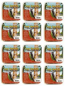Lot de 12 sachets de suif pour bûches et cacahuètes, 3 bouchons par paquet (36 bouchons au total)