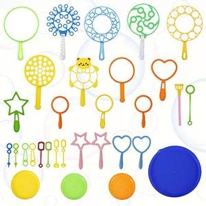 Machine à Bulles,31PCS Kit de Bulles ,Jouet Savon à Baguette à Bulles ,Sticks pour Enfants Bubble,Jeux Bulles Enfant,pour activités de Plein air, fêtes d'anniversaire et Jeux