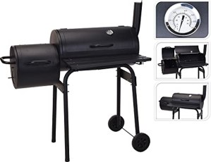 MaxxGarden Barbecue Fumoir, 100cm, deux grilles, en métal, qualité optimale, set de barbecue gratuit