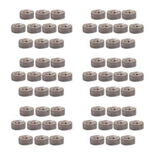 perfk 60pcs 31mm Granulés de Tourbe Graine Démarreur Plug Palette Semis Sol Pépinière Bloc