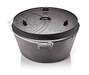 Petromax ft18 Cocotte en Fonte(Dutch Oven) (Fond Plat)