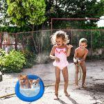 Piscine pour Bébé, Piscine Gonflable pour Enfants, Piscine à 2 Anneaux pour Garçons, Fille, Enfant en Bas âge, Jardin Extérieur, Baignoire, Baignoire Gonflable Portable (2 PCS, Bule)