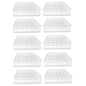 Plateaux De Semis Semences Germination Plateaux Cultiver L'usine De Démarrage Germination Propagateur Outils Kit Plastique Accessoires À Effet De Serre Transparent S 10pcs Durable