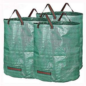 PQXOER Sacs à Plantes 72 Gallons Direction Feuilles Collecte Entretien ménager Paniers de Rangement 3 Packs Jardin Sacs déchets Sacs de Plantation de Jardin (Color : Green, Size : One Size)