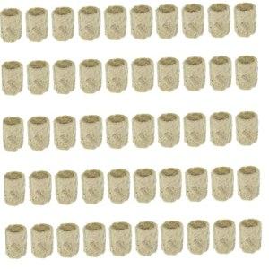 Roche bloc de laine bloc propagation hydroponique plants de légumes cylindrique Système de plantation de serre accessoires jardinage 50pcs