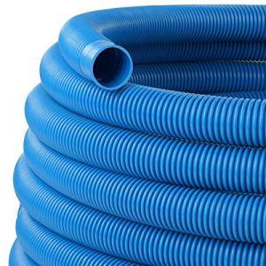 Schlauch24 Tuyau de piscine Pool Tuyau Tuyau d'aspiration Solar Tuyau Ø 38mm (Bleu) 6,0 m