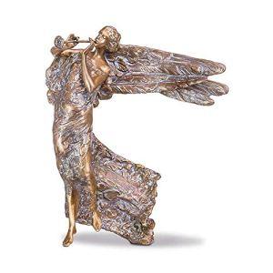 Serafinum Angelo Sura Ange funéraire en bronze patiné 70 x 58 x 39 cm