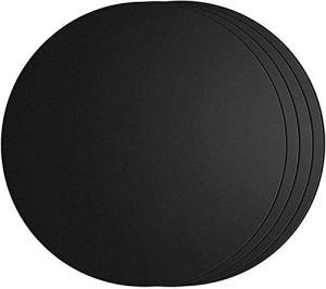 SPGOOD Lot de 4 tapis de barbecue ronds – Diamètre : 40 cm – En téflon – 100 % antiadhésif – Sans APFOA – Jusqu'à 260 °C