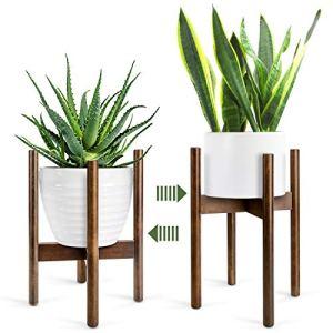 Support pour Plantes, Support de Pot de Fleur Milieu du Siècle en Bois Support de Plante Peut Accueillir des Pots de Fleurs Jusqu'à 21 cm(Pot non inclus)
