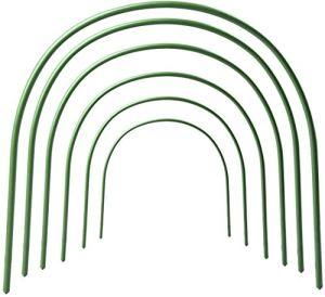 SZDAJAN Lot de 6 mini cerceaux de serre de jardin en métal – 1,2 m de long – Pour couvrir les plantes – 50 x 48 cm