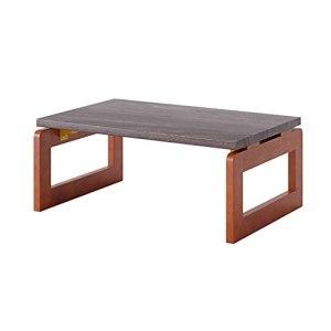 Table basse pliable Table basse stable Table d'appoint Table à thé Vintage Table Tatami Table à thé Zen pour salon chambre baie vitrée (Color : Dark Brown, Size : 60×40×30cm)