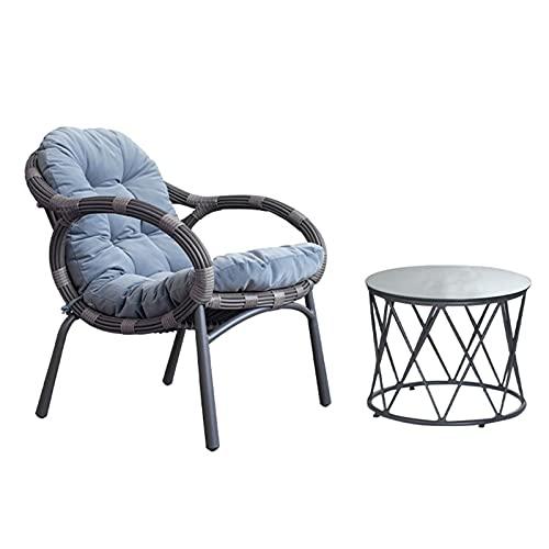 Table et Chaise d'extérieur Nordique Ensemble de Chaise en rotin tissé, Chaise de Patio de Jardin de Balcon