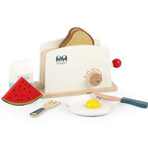 UEXCN Grille-pain en bois pour faire semblant de cuisine, jouet éducatif pour s'amuser avec les enfants