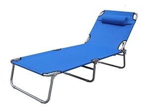 VERDELZ Chaise Longue Pliante pour terrasse de Balcon au Bord de la Piscine, inclinable portatif