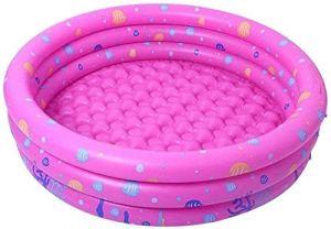 VIVOCC Piscine Gonflable, Gonflable Salon Piscine for bébé, Kiddie, Enfants, Adultes, en Plein air, Jardin, Jardin, Été Party Eau avec Pompe à air (Couleur : Pink)