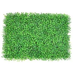 WlP Panneaux De Haie De Box-Boeuf Artificiels, Panneaux De Couvertures Artificielles, Verdure Ivy Vence De Confidentialité Protection UV pour La Décoration Murale Extérieure De Jardin, 40 X 60cm