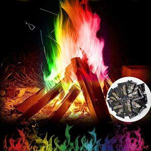 WLPTION Créez Une Flamme de Couleur Arc-en-Ciel vibrante pour Bonfire Party