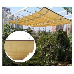 WXQIANG Pergola rétractable – Toit de protection contre les UV – 95 % – Pour terrasse, tonnelle, toit ondulé – Protection contre le soleil, isolation thermique