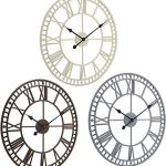 XUYI Grande Horloge Murale de Jardin Extérieur Résistant aux Intempéries avec Chiffres Romains Diamètre 60,3 cm x H 4 cm (Bronze), Marron