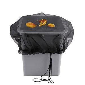 YLSZHY Lot de 5 housses de protection en maille pour tonneaux de pluie, collecte de feuilles, protection contre les moustiques et les débris hors de votre tonneau de pluie