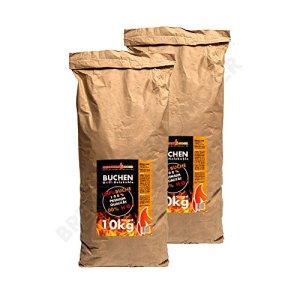 20kg Barbecue charbon de bois 100% hêtre, qualité supérieure, Charbon Convient également pour Lotusgrill Barbecue, 2x Sac de 10kg, livraison gratuite
