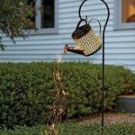 AIHOME Lampe solaire de jardin, lampe de douche de jardin, lampe de jardin, arrosoir en fer, lampe de décoration