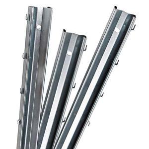Aquagart Lot de 15 poteaux de clôture profil Z galvanisés 2,3 m I 1,2 mm d'épaisseur I Poteaux de clôture de qualité supérieure pour clôture sauvage
